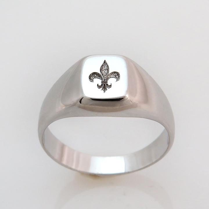 טבעת חותם Fleur-de-lis