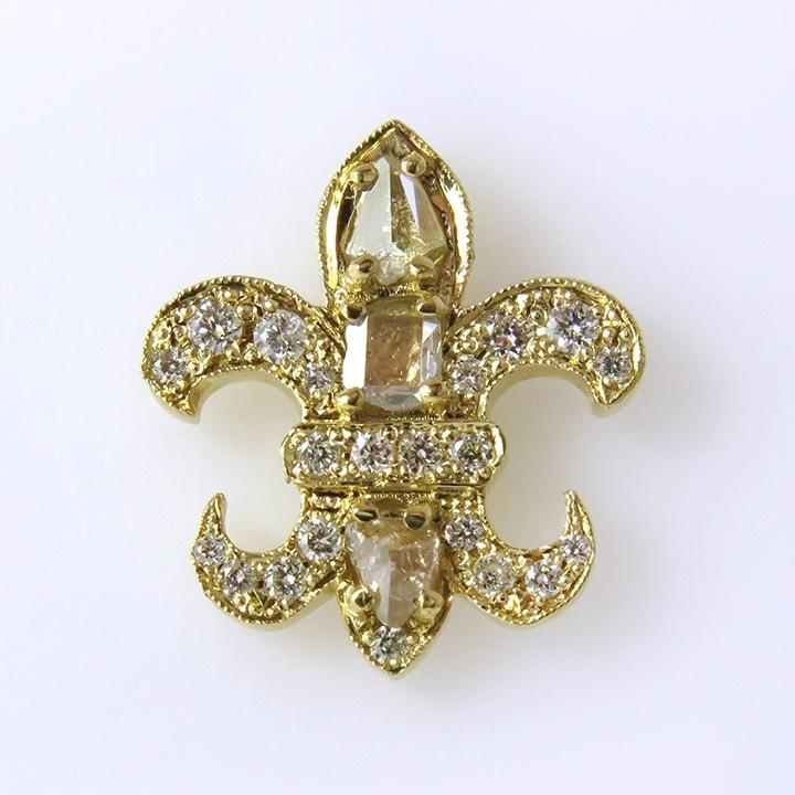 עגילי זהב fleur de lis