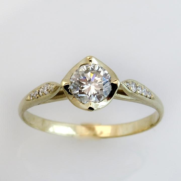 טבעת יהלום וינטאג'