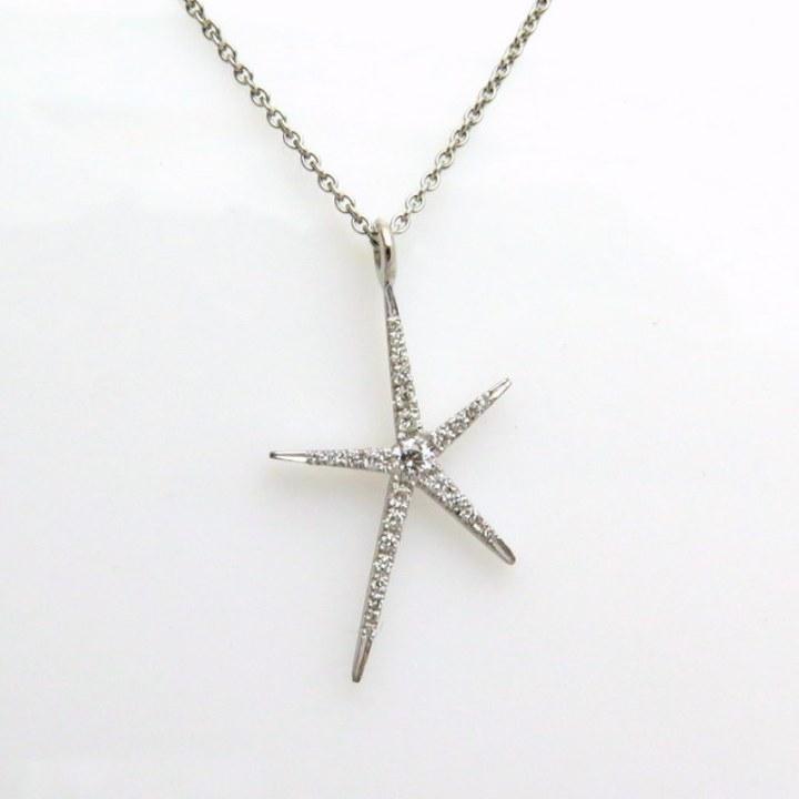 שרשרת כוכב מרהיב משובץ יהלומים