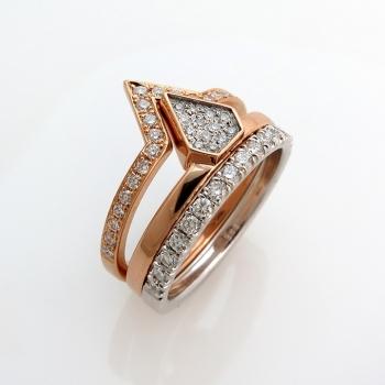 סט טבעות יהלומים משתלבות