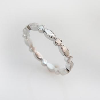 טבעת נישואים משתלבת זהב לבן