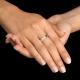 טבעת נישואים מרוקעת מדגם MOON