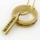שרשרת זהב 18 קרט  ויהלומי גלם קובייה