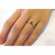 טבעת אירוסין יהלום בחיתוך Rose