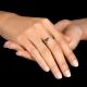 טבעת שרוול משולבת ביהלום בעיצוב פראי