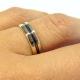 טבעת נישואין שני גוונים